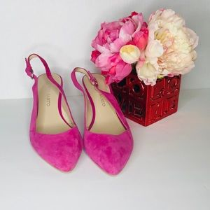 Franco sarto woman shoes heels pink 7.5 platforms
